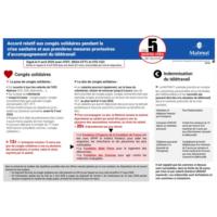Les 5 points clés sur l'accord relatif aux congés solidaires pendant la crise sanitaire