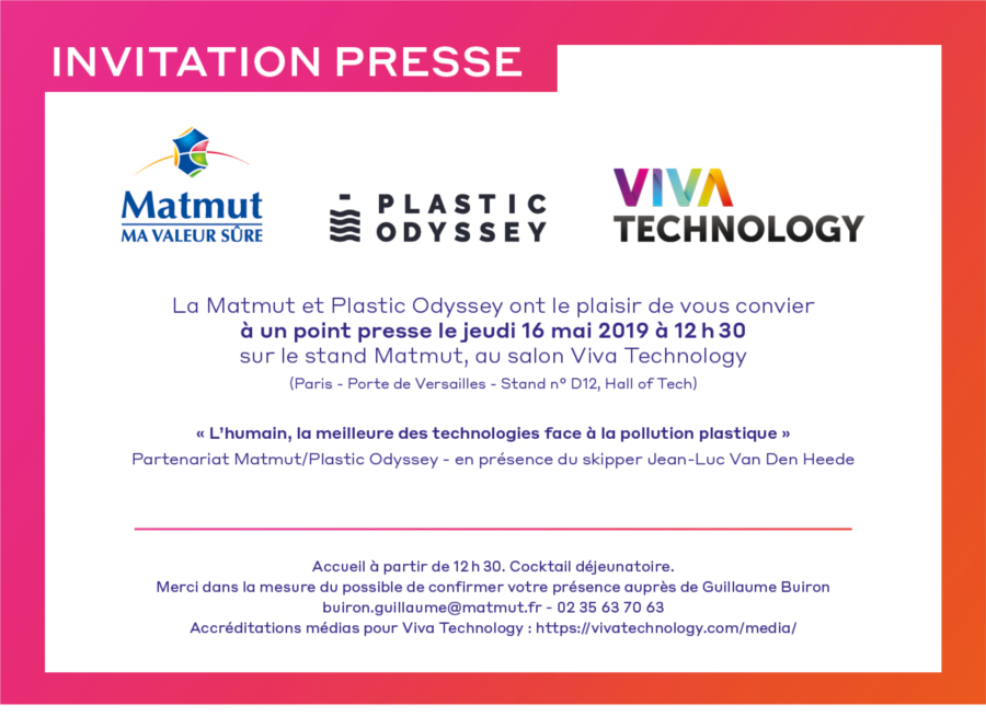 Invitation Point presse Matmut - Plastic Odyssey