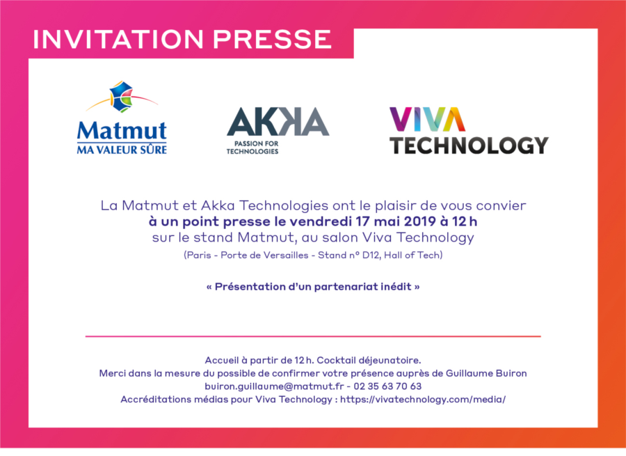 Invitation Presse - VIVA Tech - Akka Techonologies