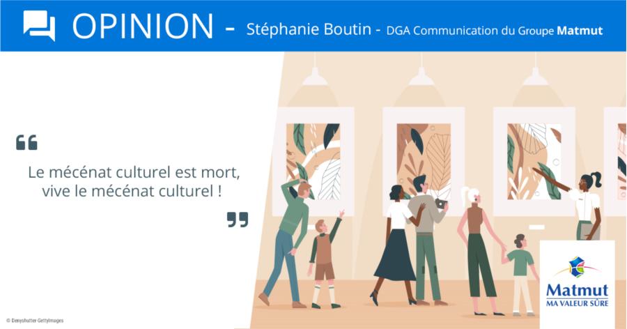 Visuel Opinion S.Boutin mécénat culturel